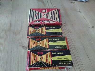 Vintage vistascreen 3d viewer and 3 sets of slides all boxed