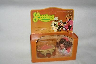 1980 Mattel The Littles Dolls Puppen Zubehör Set Badewanne Toilette Metall Bath