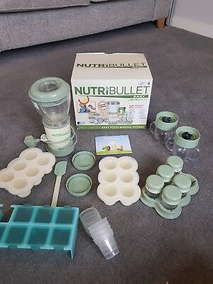NutriBullet Baby Food Processor + extra weaning pots - barely used - bundle