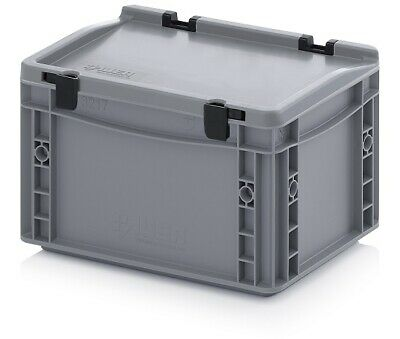 Transport Containers 30x20x18, 5 with Lid Plastic Transport Case Box 300x200x185