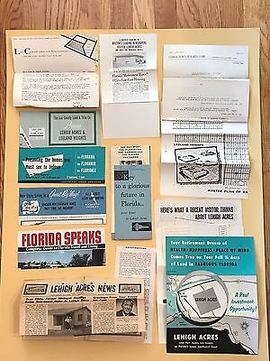 1950's Large Collection of Original Info about LEHIGH ACRES / Prices / Lots