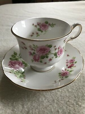 Pink Roses Fine bone china Tea cup and Saucer by Avon