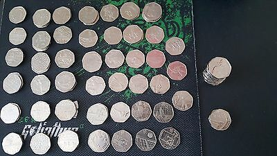 RARE!! 50p coins inc.Olympic Canoeing & Hockey. Also Beatrix Potter LOW PRICES!!
