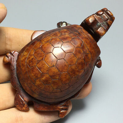 Chinese Exquisite Hand carved tortoise carving Ancient jade pendant  1pcs