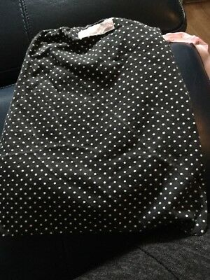 Breastfeeding cover / Modesty Cloth Black With Whit Polka Dots