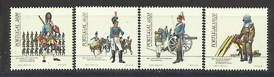 Portugal 1985 - Military Uniforms, Army set MNH