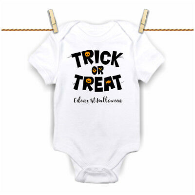 Personalised My First 1st Halloween 2018 trick or treat Grow,Bodysuit, Vest  New