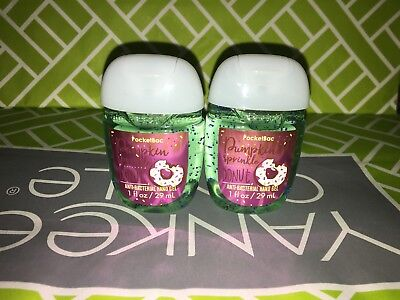 Pumpkin Sprinkle Donut 2x Bath & Body Works Anti Bacterial Hand Gel RARE Scent