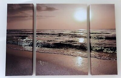 NEXT Home Beach Canvas Print. Large Wall Art. Perfect Condition.