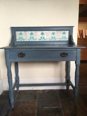 Original Victorian wooden wash stand. Ideal shabby chic desk / dressing table.