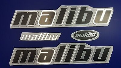 "Malibu boat Emblem 22"" chrome black + FREE FAST delivery DHL express - stickers"