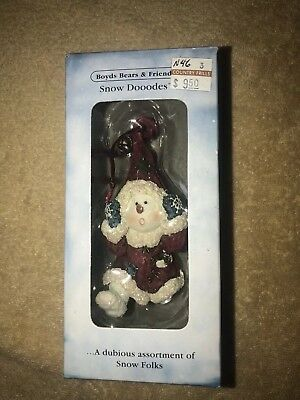 New Snow Dooodes Frostie B Dangles Ornament, Boyds Bears & Friends