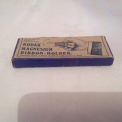 Vintage Boxed Kodak Magnesium Ribbon Holder.
