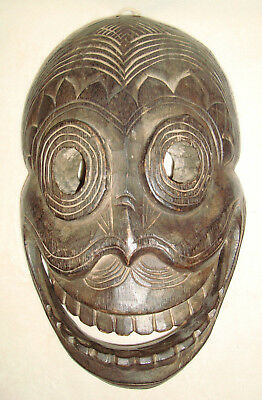 """African Hand Carved Wooden Mask 14 1/4""""- 9"""""""
