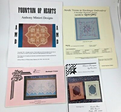 Unique Hardanger Patterns c. 1995 Watnemo Kayann Cecelia Bee Minieri YOU CHOOSE