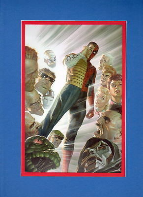 2015 SDCC Exclusive SPIDER-MAN COLLAGE PRINT PROFESSIONALLY MATTED Alex Ross