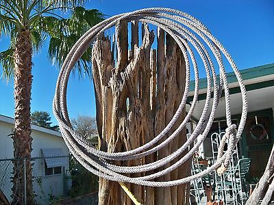 Western Rodeo Lariat Lasso Rope Approx 32 to 35 by pros Minors Brothers Grayblue