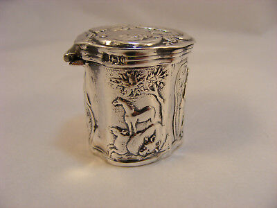 925 grade Solid Silver Dutch loderein or vinaigrette box, 1891