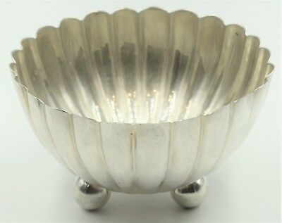 Tane Eagle 32 Sterling Silver Footed Scalloped Bowl by Jose Marmolejos Mexico