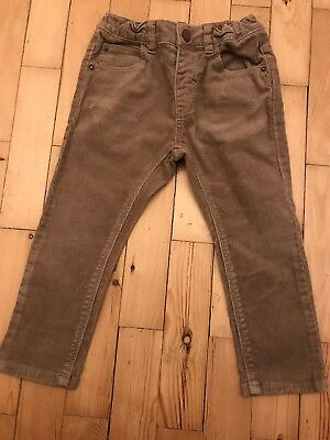 Zara Boys Beige Skinny Cord Jeans Trousers - 2-3 Good Condition