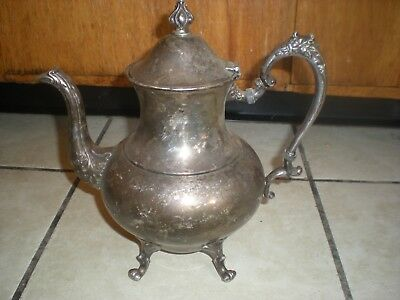 Vintage Silver On Copper Coffee/ Tea Pot With Hallmarks