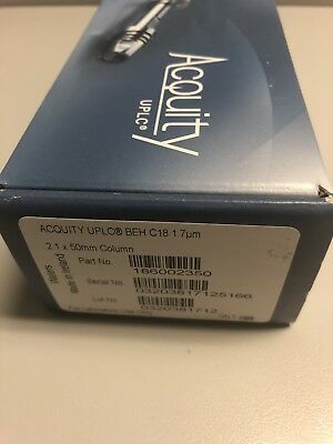 *New Sealed* Waters Acquity HPLC Column 2.1 x 50 mm 1.7 um BEH C18 186002350