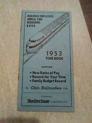 railroad employee time recording book red rates of pay enginemen