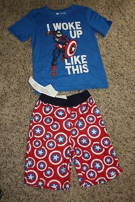 Brand New with Tags! Gap Captain America Marvel Summer Pajama Set! Size 6