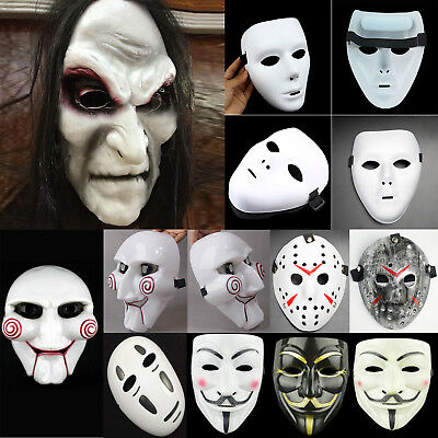 Halloween Masks Uk.Scary Halloween Masks Party Fancy Clown Saw Evil Horror Mask Costumes Cosplay Uk
