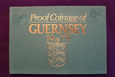 1979 Proof Coinage Of Guernsey 6 Coin Set