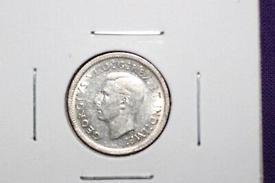 1938 Silver Canadian 10 Cent Piece ~ Km 34 ~ Nice Coin