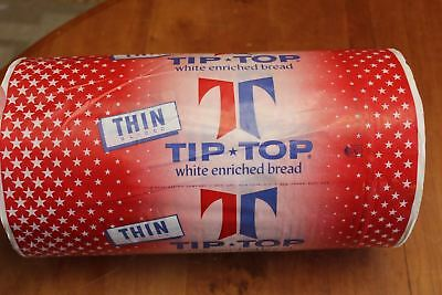 """Vintage 7.625"""" Roll Tip Top Thin Sliced Enriched Bread Wrapper Ward Printing NY"""