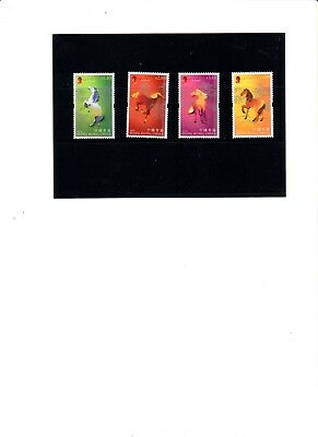 "Hong Kong, 2002, ""year Of Horse"" Stamp Set, Mint Nh  Very Fresh Good Condition"
