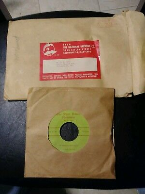 Super Rare Christmas 45 Record National Brewing Bohemian Beer Promo Item