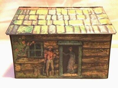 Cooperative Wholsale Crumpsall LOG CABIN Biscuit Tin, 1911