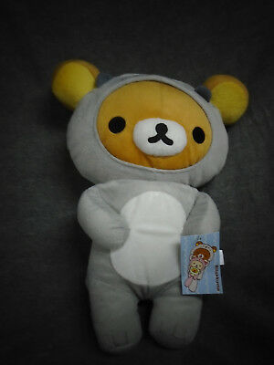 "Rilakkuma 16"" Rilakkuma Grey Sea Otter Costume Plush New With Tags"