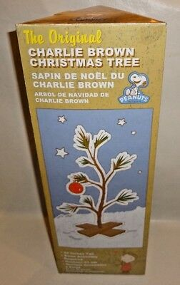 THE ORIGINAL CHARLIE BROWN CHRISTMAS TREE w/ ORNAMENT BRAND NEW IN BOX 24""