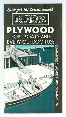 1939 EXT-DFPA Plywood for Boats & Every Outdoor Use Pamphlet