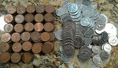 Foreign coin lot & tokens. $21+ Canada, 7 tokens & over 2lb, 6oz World mixed