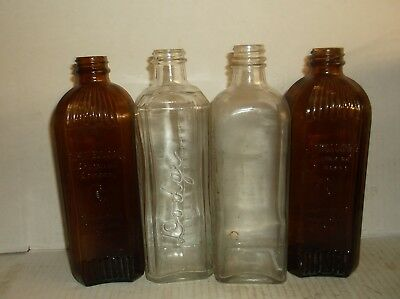 4 Embalming Poison Bottles