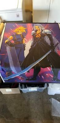 Final Fantasy 7 Wall Scroll Cloud and Sephiroth.