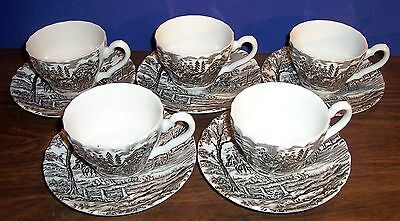 Lot Of 5  Myott Royal Mail Cups And Saucers  Made In England