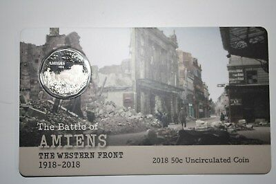 2018 UNC 50c coin - The Battle of Amiens Limited Edition