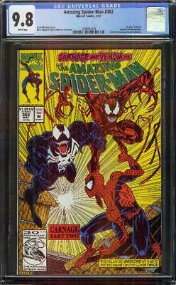 Amazing Spider-man #362 CGC 9.8 WP 2nd  Appearance of Carnage!