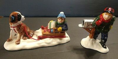 Department Dept 56 Christmas Village collectible Village Mush dog sled figure
