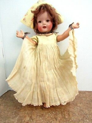 vintage 1940 composition nancy doll  in original outfit no box