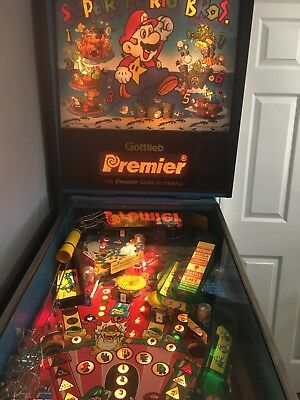 Super Mario Bros Pinball Machine 1992 Nintendo Gottlieb.