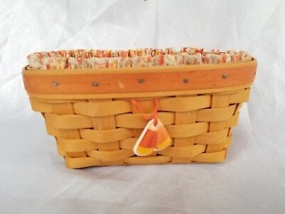 Longaberger Candy Corn Basket Combo Set With Tie On