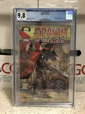 Spawn #223 CGC 9.8 White Pages Walking Dead 1 Homage Cover