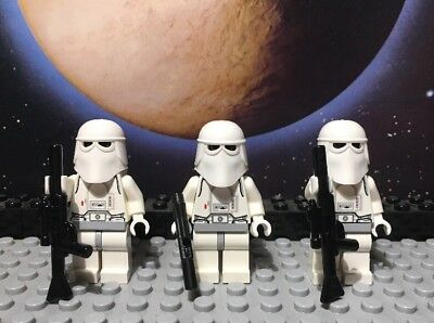 Lego Star Wars Minifigure Lot Hoth Imperial Snow Trooper Lot Of 3